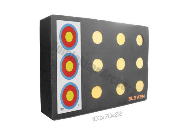 Eleven Plus Target Polyfoam 70 x 100 x 20 cm with 12 x 9,5 cm EZ-Pull Insert-0