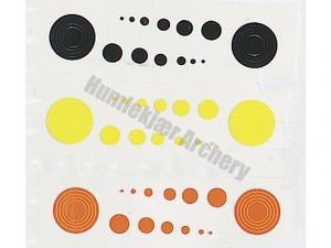 Specialty Archery Scope Circles + Dots Black, Orange and Yellow-0