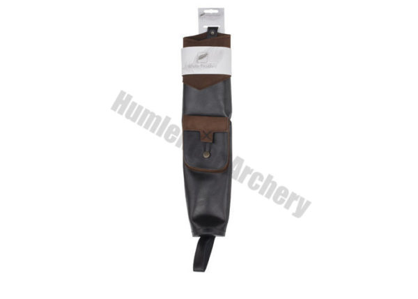 White Feather Back Quiver Earthquake Brown-6130