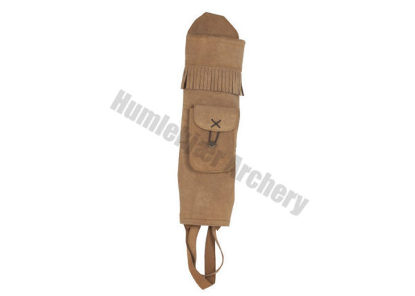 White Feather Back Quiver Water Brown-0