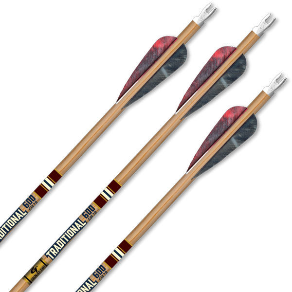 6 stk Gold Tip Arrow Fletched Traditional Classic-7058