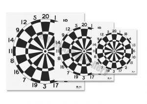 100 stk Target Face Dart 80 cm-0